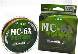 Kabura MC-6X Zoom Multi Color 200mt İp Misina